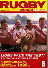 RUGBY WORLD MAGAZINE JULY 1989 - PERFECT GIFT FOR A FAN BORN IN THIS MONTH