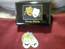Black Enamel Jewelry Music Box Comedy / Tragedy Masks & Sun catcher Lot: used