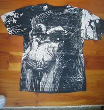 DESIGN BY HUMANS T-Shirt SKUNK APE small S BLUE VERY SOFT Discharge print