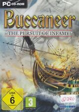 PC CD-ROM + BUCCANEER + The Pursuit Of Infamy + Seeschlacht + Piraten + Vista