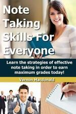 Study Skills Made Easy: Note Taking Skills for Everyone : Learn the...