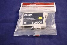 (1) Yellow Ink Cartridge Genuine Epson T0604