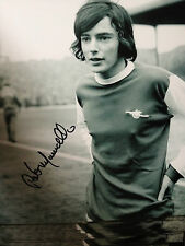 PETER MARINELLO - ARSENAL LEGEND  - SUPERB SIGNED B/W PHOTOGRAPH