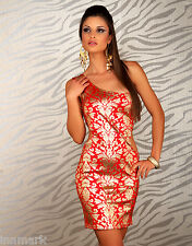 408 SEXY CLUBBING PARTY SLEEVELESS GOLD ORNAMENT BODYCON DRESS SIZE S/M AND M/L