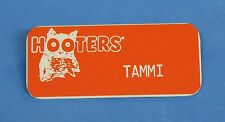 "Hooters Restaurant ""TAMMI"" Orange Girl Name Tag / Pin -  Waitress Pin"
