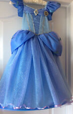 Cinderella Live Costume Dress Up Hooped Skirt Tiara Deluxe Dress Up age 7/8 Y