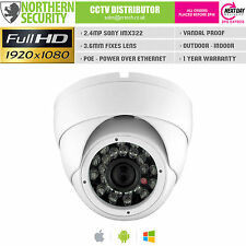 SONY IMX 2.4MP 3.6mm 1080P ONVIF P2P IR  White Dome Network IP Security Camera