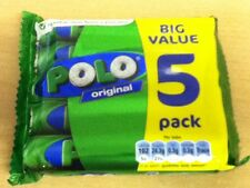 5 TUBES OF POLO ORIGINAL MINT SWEETS -  BRITISH SWEETS - WILL SHIP WORLDWIDE