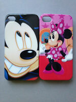 GLOSSY PLASTIC BACK CASE / COVER FOR APPLE iPHONE 4 4S - MICKEY & MINNIE MOUSE