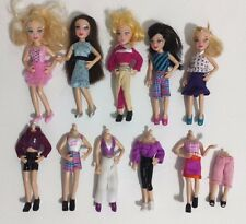 Polly Pocket Lot of 5 Dolls -Pop and Swap Fashion w/ 6 Changes of Clothes