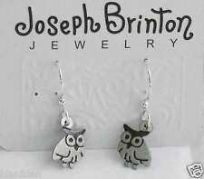 Small Owls  Earrings By Joseph Brinton Hypoallergenic Sterling Wires Made in USA