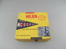 Vintage Milben Miniature 500X Power Microscope Set Japan