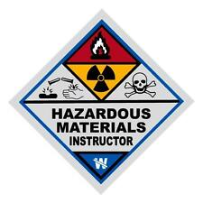Hazardous Materials Instructor Haz Mat Firefighter Reflective Decal Sticker