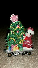 Lionel Train Mary's Moo Moos Girl On Hand Cart with Christmas Tree 858544