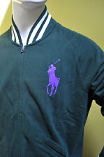 Polo Ralph Lauren Men's Green Cotton Fleece Blazer Jacket Big Pony Sz S NWT