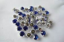 50 x 5mm Crystal STITCH-ON/SEW ON CRYSTAL RHINESTONE MONTEES: CM09 SAPPHIRE BLUE