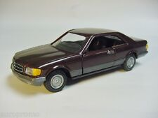 1:35 NZG 1989 MERCEDES-BENZ S-Class (W126) Coupe brown VERY RARE DEALER PROMO