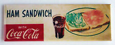 Coke & Ham Sandwich FRIDGE MAGNET (1.5 x 4.5 inches) soda sign coca cola drink