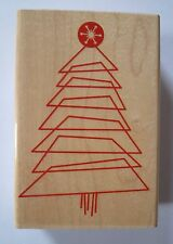 Inkadinkado Rubber Stamp, Modern Block Christmas Tree with Star, 94649-X, New