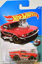 HOTWHEELS 4/10 FORD 68 MUSTANG TOONED 27/365 RED MONSTER HOT WHEELS