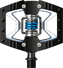 NEW Crank Brothers  Doubleshot Pedals Black Raw wBlue Spring