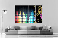 DAFT PUNK DIGITAL MUSIC  MIXER DJ Wall Art Poster Grand format A0 Large Print