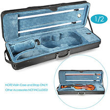 Neewer 1/2 Size Oblong Shape Violin Carry Hard Case with Suspension Cushioning