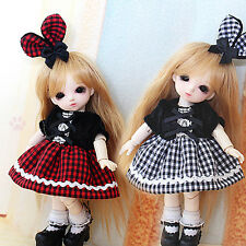 Sweet Cute Western Style Gird Dress/Suit(2pc) For 1/12 Lati-Y/Pukifee BJD Clothe
