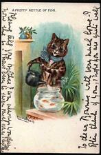 ARTIST SIGNED LOUIS WAIN CAT.  VINTAGE POSTCARD 1905 USED. R.TUCKS..