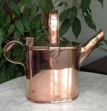 STUNNING COPPER WATERING CAN 4 OR5 Pints CAPACITY Polished VICTORIAN HEAVY 1.3KG