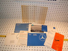 Mercedes 82 380SEC/SEL Owner's 1 set of 8 Manual / Paper & Clear plastic 1 Pouch