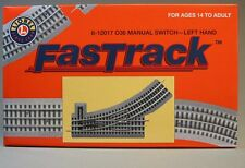 LIONEL FASTRACK 036 SWITCH LEFT Hand train track turn o gauge out 6-12017