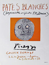 PICASSO - GALERIE FOLKLORE -  OFFSET LITHOGRAPH - 1958 - SPECIAL $ 5  !!!