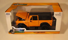 Jada 1/24 Scale Just Trucks 1973 Ford Bronco Orange/Black Diecast Model 97824