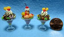 Dollhouse Miniature Ice Cream Sundae Dessert ~ ICSS-1