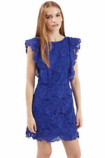 BEAUTIFUL NWT TOPSHOP WOMEN'S FLORAL LACE COCKTAIL PARTY DRESS 2 XS