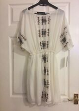 Zara Ethnic Beautiful Embroidered white Dress Size S