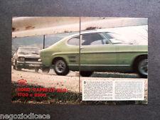 BA67 - Clipping-Ritaglio -1970- PROVE SU STRADA , FORD CAPRI GT XLR 1700 E 2300