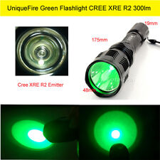 LED Outdoor Green Flashlight Torch CREE XRE Emitter for Hiking Hunting UK STOCK