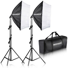 "Neewer 700W Photography 24""x24""/60x60cm Softbox w/ E27 Socket Lighting Kit"