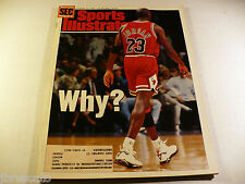 1993 MICHAEL JORDAN CHICAGO BULLS RETIRES - WHY Sports Illustrated 10-19-1993