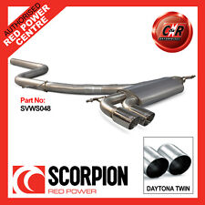 VW Mk6 Golf GT 2.0TDI 09-13 Scorpion Cat-Back (Non Res) 2x83mm Daytona SVWS048