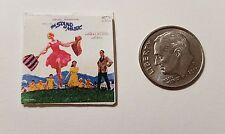 "Dollhouse Miniature Record Album 1"" 1/12 scale Barbie  Sound of Music"