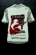 HRC Hard Rock Cafe Newport Beach Signature Series Creed White Tee LE300