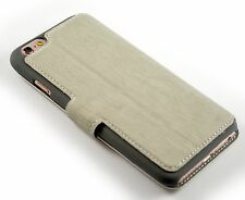 iPhone 5, 5C & SE Leather Vintage Retro Case Wallet Professional Premium White
