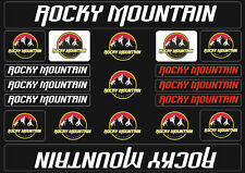 Rocky Mountain  Bicycle Frame Decals Stickers Graphic Adhesive Set Vinyl White