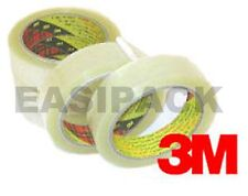 "12 Rolls of 3M Scotch 371 CLEAR Packing 1"" Tape 25mm x 66m"