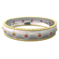 Buccellati 18k Gold Ruby Bangle Bracelet $32,000.00