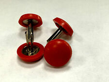4x 16mm Red Plastic Furniture Glides, Gliders for Table, Chair & Cupboard Legs