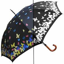 "Lot of 12 - 46"" Color Changing Butterfly, Auto Umbrella -RainStoppers Rain/Sun"